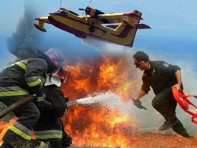 Οι Ήρωες Πυροσβέστες στην Μάχη με τις Φλογες